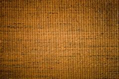 De textuur rieten oppervlakte van het ambachtsweefsel Stock Fotografie