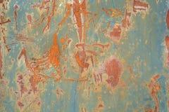 De textuur ruwe vuile beschadigde achtergrond van het roestmetaal Royalty-vrije Stock Foto