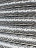 De textuur van de aluminiumdraad Stock Afbeelding