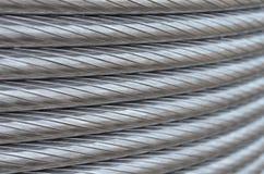 De textuur van de aluminiumdraad Stock Fotografie