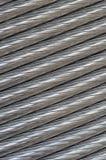 De textuur van de aluminiumdraad Stock Foto
