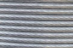 De textuur van de aluminiumdraad Stock Foto's
