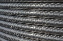 De textuur van de aluminiumdraad Stock Afbeeldingen