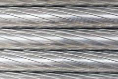 De textuur van de aluminiumdraad Royalty-vrije Stock Foto