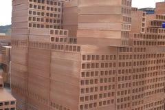 De textuur van de baksteen Baumaterial stock fotografie