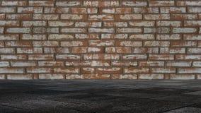 De textuur van de baksteen is oud, gekrast stock fotografie