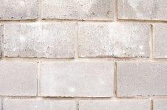 De textuur van de bakstenen De achtergrond van de baksteen Achtergrond van bakstenen Grijze Bakstenen Concrete blokken E grijs stock foto