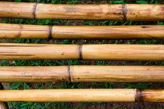 De textuur van bamboe horizontale lijnen Stock Afbeelding