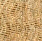 De textuur van bamboeweefsel, kan voor achtergrond worden gebruikt Royalty-vrije Stock Afbeelding