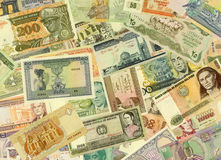 De Textuur van bankbiljetten Stock Fotografie