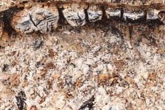 De textuur van de brandwond uit as grunge stock foto's