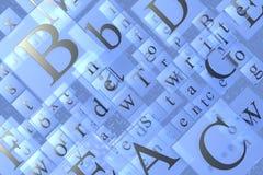 De Textuur van brieven Stock Afbeeldingen