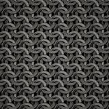 De textuur van Chainmail Stock Afbeeldingen