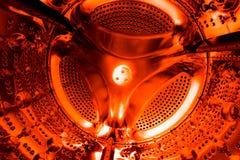 De textuur van de cilinder of het vat van wasmachine stock fotografie