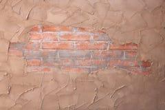 De Textuur van de baksteen en van de Gipspleister Royalty-vrije Stock Afbeeldingen