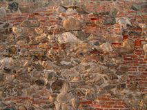 Baksteen en Rotstextuur Stock Afbeelding