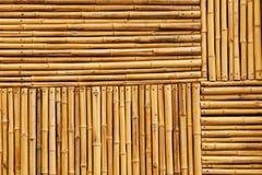 De textuur van de bamboeomheining Stock Afbeeldingen