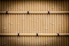 De textuur van de bamboeomheining Stock Foto's