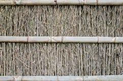 De textuur van de bamboeomheining Stock Foto