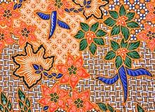 De Textuur van de batik Royalty-vrije Stock Afbeelding