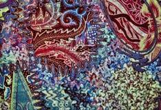 De Textuur van de Batik van de kleur Stock Afbeeldingen