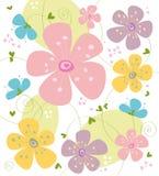 De textuur van de bloem Stock Foto's