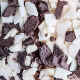 De textuur van de chocoladecake Royalty-vrije Stock Afbeeldingen