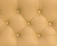 De textuur van de close-up van uitstekende bruine leerbank Royalty-vrije Stock Fotografie