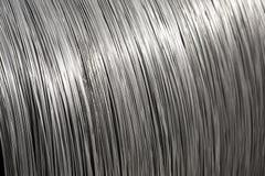 De textuur van de de draadspoel van het aluminium Royalty-vrije Stock Fotografie