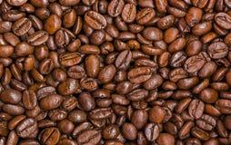De textuur van de geroosterde koffiebonen Stock Foto