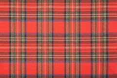 De textuur van de geruit Schots wollen stofplaid royalty-vrije stock foto's