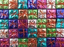 De textuur van de Gift van Kerstmis Stock Foto's