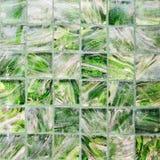 De textuur van de glasmuur - de Groene muur van het kleurenglas Stock Afbeeldingen