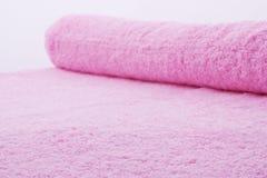 De textuur van de handdoek. Sluit omhoog. Royalty-vrije Stock Afbeelding