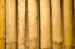 De textuur van de het bamboeomheining van de close-up. Stock Afbeeldingen