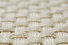 De textuur van de het weefselstof van de wol Royalty-vrije Stock Afbeeldingen