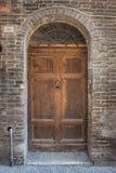 De textuur van de ingangsdeur Stock Fotografie