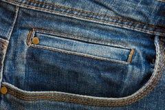De textuur van de jeans Stock Foto's