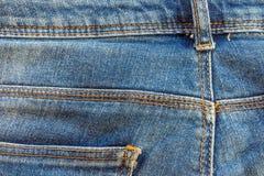 De textuur van de jeans Stock Afbeeldingen