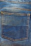 De textuur van de jeanszak Stock Fotografie