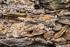 De textuur van de kalksteenmuur Stock Afbeelding