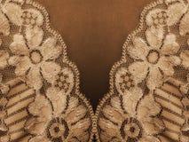De textuur van de kantstof Stock Afbeeldingen