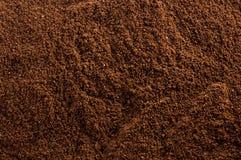 De Textuur van de Koffie van de grond Stock Foto