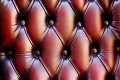 De textuur van de leerstoel Stock Foto