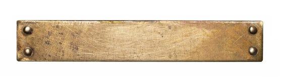 De textuur van de metaalplaat Stock Afbeelding