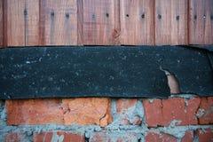 De textuur van de muren van het buitenhuis Stock Fotografie