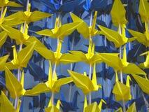 De textuur van de origami Stock Afbeeldingen