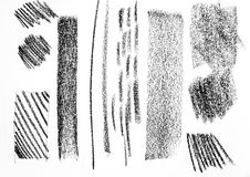 De textuur van de potloodtekening in verscheidenheidsstijl Stock Foto