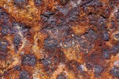 De textuur van de roest De staaf op de linkerzijde is in nadruk Royalty-vrije Stock Afbeelding