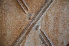 De textuur van de roest De staaf op de linkerzijde is in nadruk Royalty-vrije Stock Foto's
